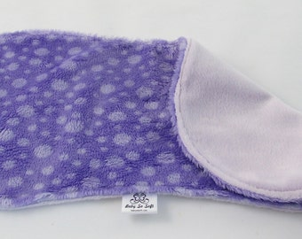 Burp Cloth - Purple Burp Cloth - Lavender Burp Cloth - Minky Burp Cloth - Modern Burp Cloth