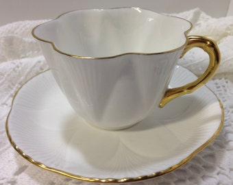 Shelley Dainty White Tea Cup and Saucer, English Tea Cups, Vintage Tea Cups, Antique Teacups, Tea Party