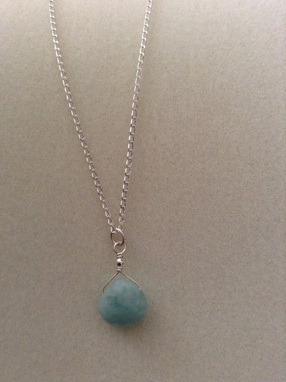 Amazonite Briolette on Sterling Silver Chain NSS61517101
