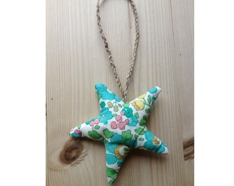 Star made from Liberty Fabric