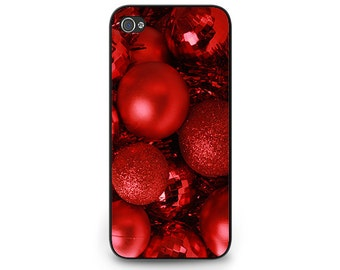 Christmas Ornament Phone Case for iPhone 5s Red Christmas Phone Case iPhone 5c Christmas Ball Phone Case iPhone 4s Holiday Gift