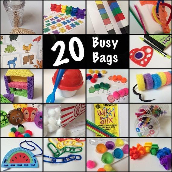 Busy Bags - 20 Toddler - Preschool - Discount Bundle of Children's Activities