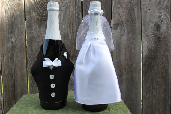 Bride And Groom Wine Bottle Covers Patternsloom Knit Wine Bottle