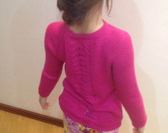 """Knitted baby sweater """"Spring"""""""