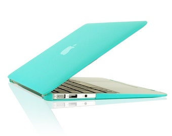 """Rubberized Hot Blue Hard Case Cover for Macbook Air 13-inch 13"""" Model A1369 & A1466"""