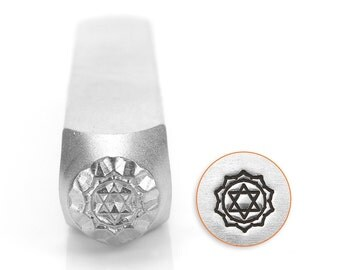 Heart Chakra Design Stamp, 6mm - By ImpressArt