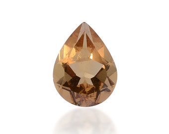 Alexite Autumn Synthetic Color Change Loose Gemstone Pear Cut 1A Quality 8x6mm TGW 0.95cts.