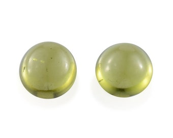Italian Idocrase Set of 2 Round Cabochon Loose Gemstones 1A Quality 6mm TGW 1.65 cts