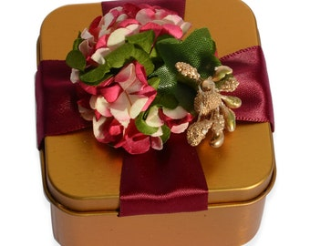 Gift Ring Box Gold