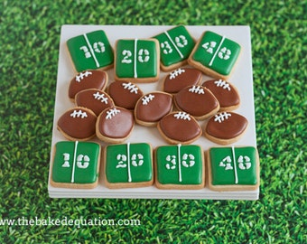 Football Mini Sugar Cookies