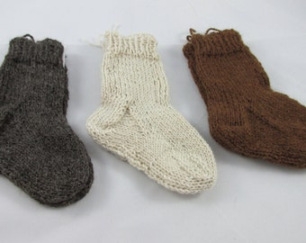 Hand Knit Alpaca Toddler & Baby Socks