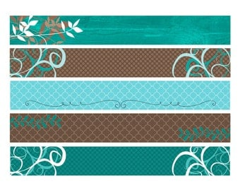 80% OFF SALE Blank Etsy Shop Banners, Teal and Brown Etsy Banners, Etsy Banner, Teal Shop Banners