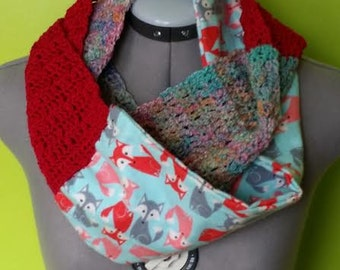 Upcycled Fox Cowl