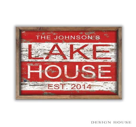 Custom Lake House Sign Personalized Lake House Sign Lake Decor