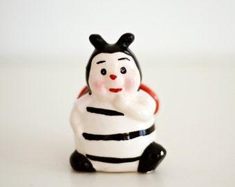 Vintage Ceramic Ladybug Figurine