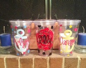 Customized Tumbler cup with Straw