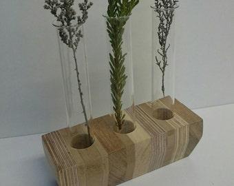 Off cut test tube vase