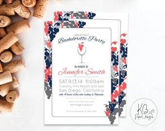 Wine Bachelorette Party Invitation | Wine Tasting Invite