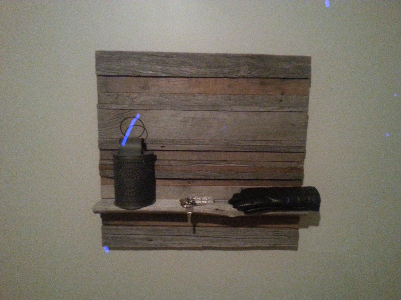 Old barn wood wall shelf