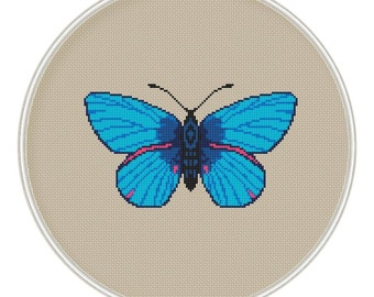 Butterfly Cross stitch pattern, insect cross stitch, moth cross stitch pattern, cross stitch PDF, MCS065