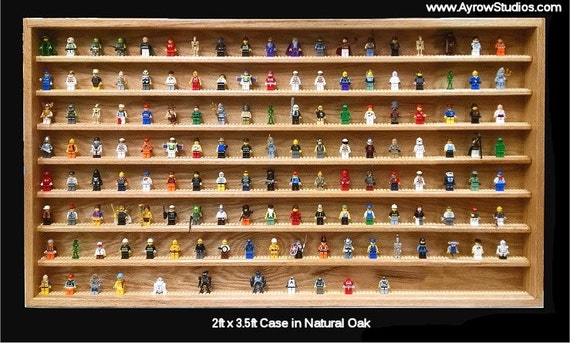 artisanal bois lego vitrine pour figurines figurine d tient. Black Bedroom Furniture Sets. Home Design Ideas