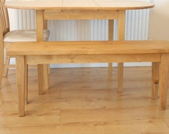 Solid Chunky Reclaimed Pine Rustic Bench Seat, Suit Country or Contemporary Kitchen or Hallway