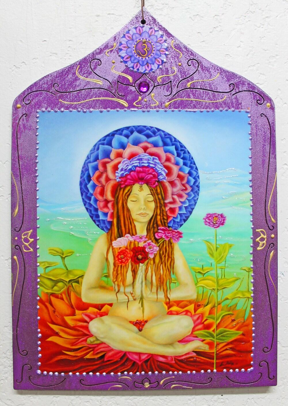 Seventh Chakra Sahasrara Crown Chakra Goddess By