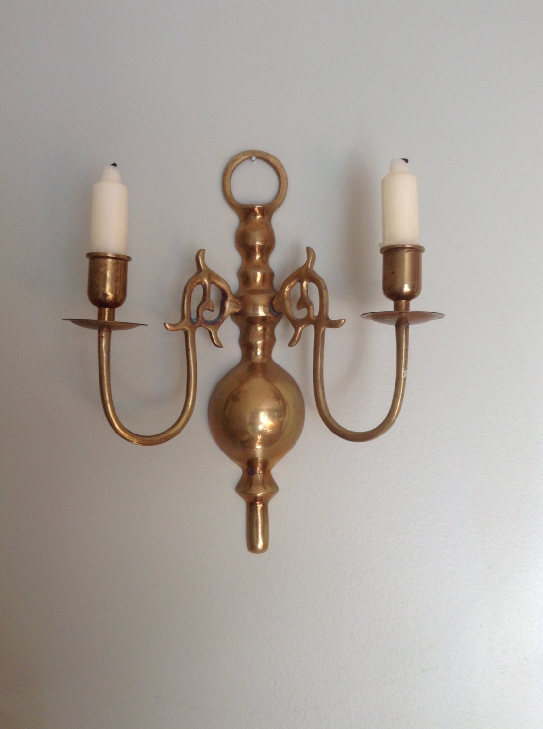 Brass Candle Holder Wall Mount Brass Candle Holder Scone
