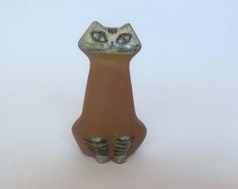 Lisa Larson Cat Figurine - Lila Zoo Series for Gustavsberg Sweden