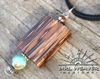 Wood & Turquoise Pendant