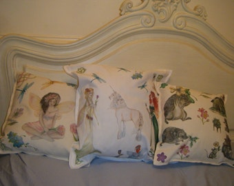 Fantasy, angels, fairies, hedgehogs, handcrafted, handmade cushion covers