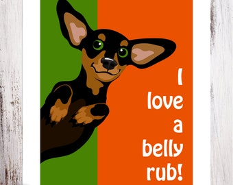 Belly Rub Art Print