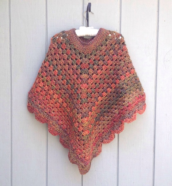 crocheted poncho for womens clothing by lurayknitwear