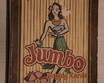 Tiki Lounge Jumbo playing cards