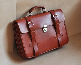 Leather Briefcase (English Bridle)