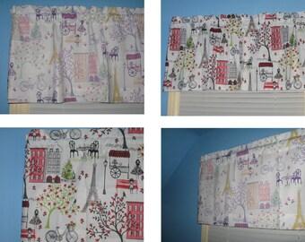 Handmade 100% White Purple Pink  Green Yellow Kid's Window Topper Curtain Valance