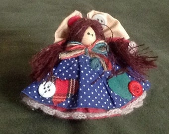 Vintage Button Doll 2.5""