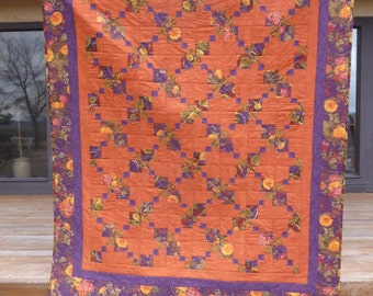 Fall Double Disappearing 9-patch Lap Quilt - FREE SHIPPNG