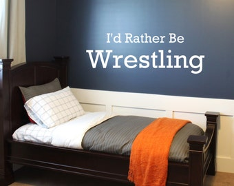 id rather be wrestling quote wall decor vinyl decal. beautiful ideas. Home Design Ideas