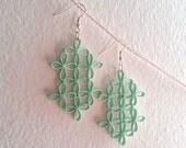 Large paper lattice flower earrings in white - custom for Amor