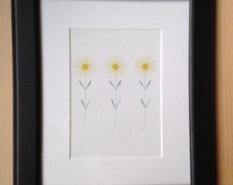 Spring Yellow Flower Print (framed)