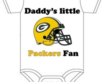 ON SALE Greenbay packers daddys little fan Shirt  onesie you pick size newborn / 0-3 / 3-9 / 12 / 18 24 month