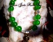 Kuan Yin Bracelets - amethyst, rose quartz, green jade, blue turquoise or fluorite