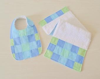 bib & burp cloth set PDF sewing pattern Baby Rainbow II - baby sewing pattern - patchwork baby pattern - instant download sewing pattern
