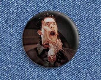 "Evil Dead 2 ""Choking Ash"" 1 1/2 inch pin back button"