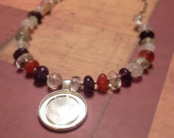 Gemstone Mirror Necklace