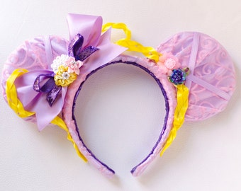 Rapunzel Tangled Inspired Mickey Mouse Headband