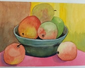 Vintage Still life watercolor of fruit