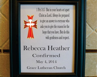 Confirmation Gift for Girl - Confirmation print - Bible Verse - Gift from Godparents - Gift for Godchild - Goddaughter Gift (co101a)
