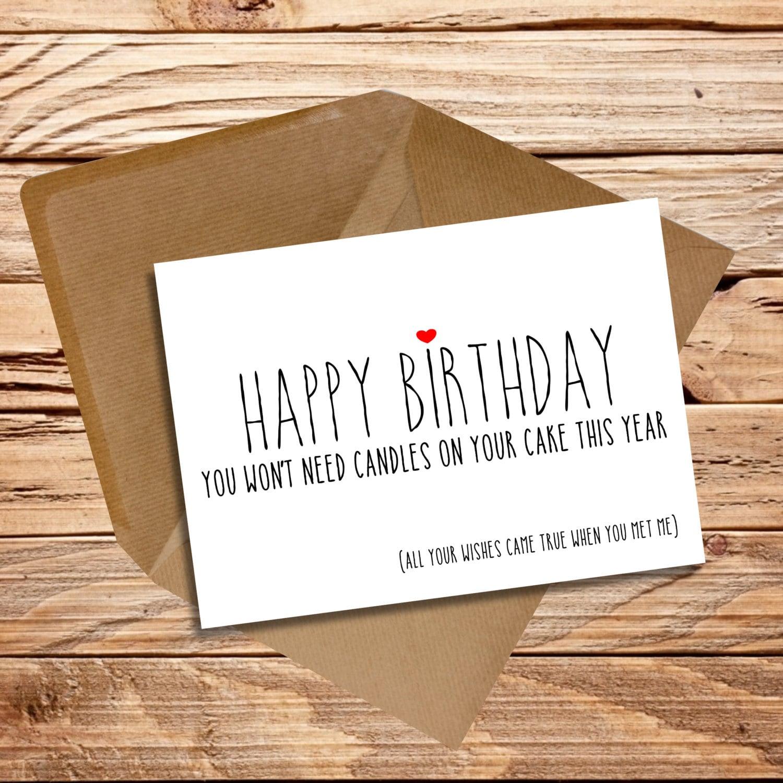 Funny Birthday Card Husband Wife Girlfriend By